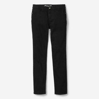 Thumbnail View 1 - Girls' Knit Flex Jeans - Black