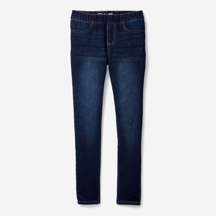 Girls' Knit Flex Denim Leggings large version