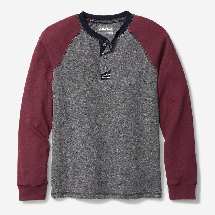 Boys' Basin Henley Shirt - Color Block large version
