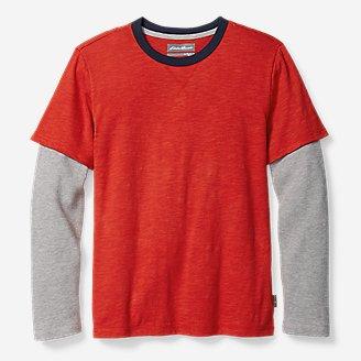 Thumbnail View 1 - Boys' Basin Long-Thermal-Sleeve T-Shirt