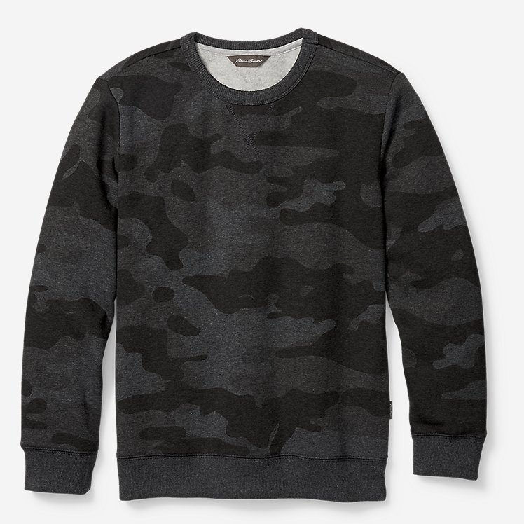 Boys' Camp Fleece Crewneck Sweatshirt large version