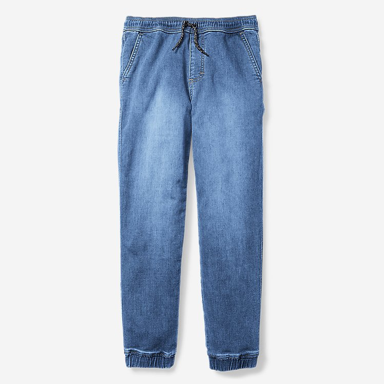 Boys' Flex Denim Jogger Pants large version