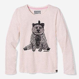 Thumbnail View 1 - Girls' Graphic Long-Sleeve T-Shirt