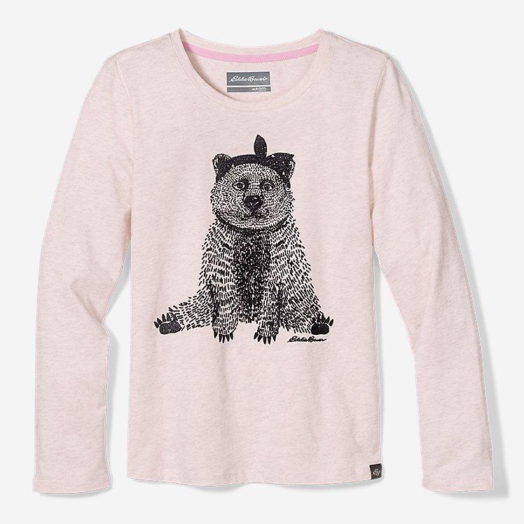 Girls' Graphic Long-Sleeve T-Shirt large version