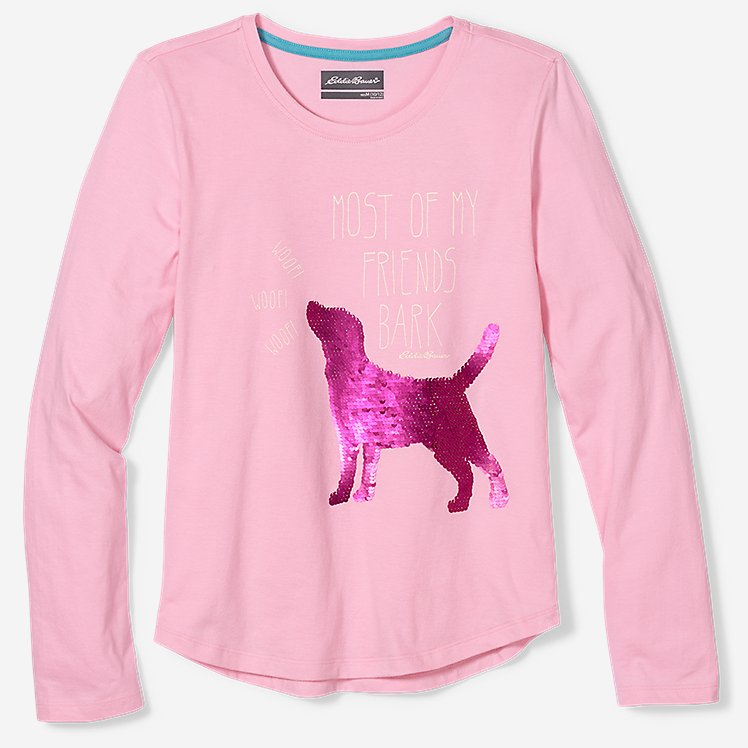 Girls' Sequin Graphic T-Shirt large version
