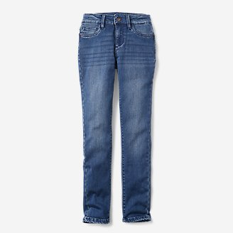 Thumbnail View 1 - Girls' Flex Brushed-Back Jeans