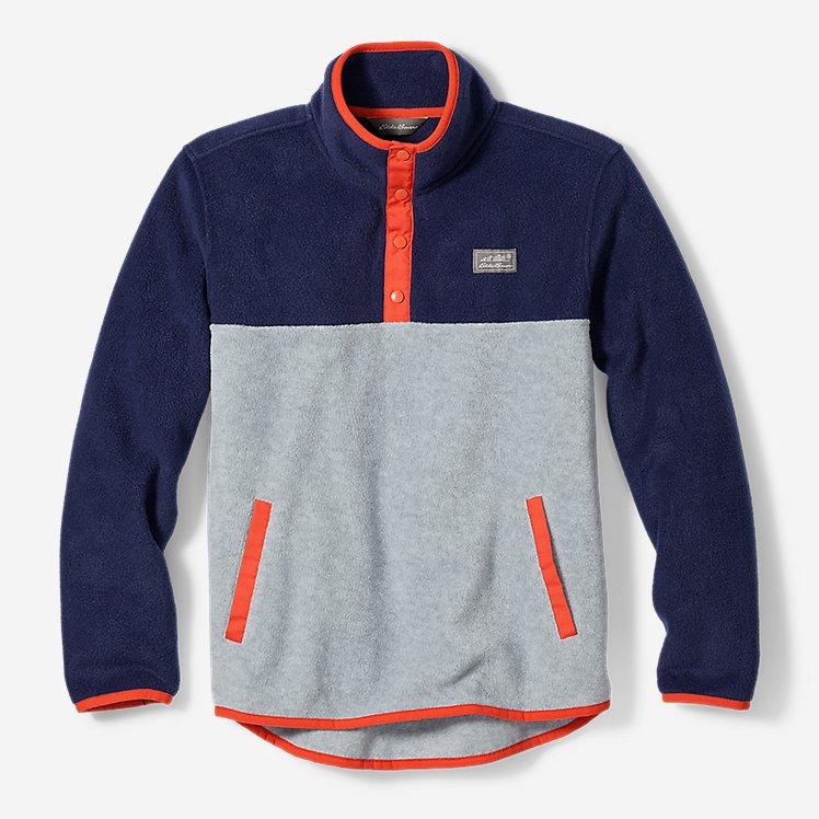 Boys' Quest Fleece Snap-Neck Pullover large version