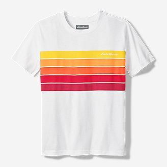 Thumbnail View 1 - Boys' Leeward Short-Sleeve T-Shirt - Chest Stripe