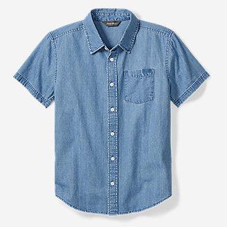 Thumbnail View 1 - Boys' Chambray Short-Sleeve Shirt