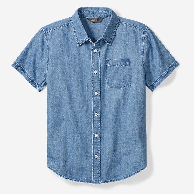 Boys' Chambray Short-Sleeve Shirt large version