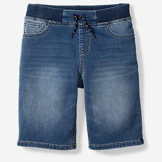 Thumbnail View 1 - Boys' Flex Knit Denim Pull-On Shorts