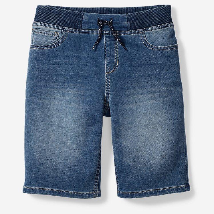 Boys' Flex Knit Denim Pull-On Shorts large version