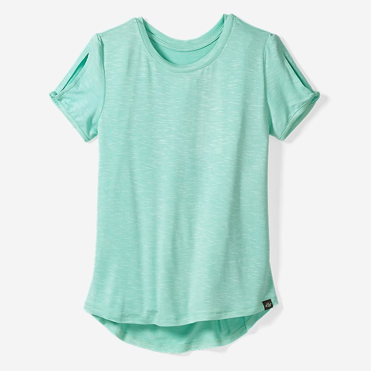 Girls' Vista Twist Pleated-Back Short-Sleeve T-Shirt large version