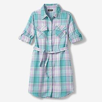 Thumbnail View 1 - Girls' Plaid Shirt Dress