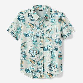 Thumbnail View 1 - Boys' Summer On The Go Short-Sleeve Poplin Shirt
