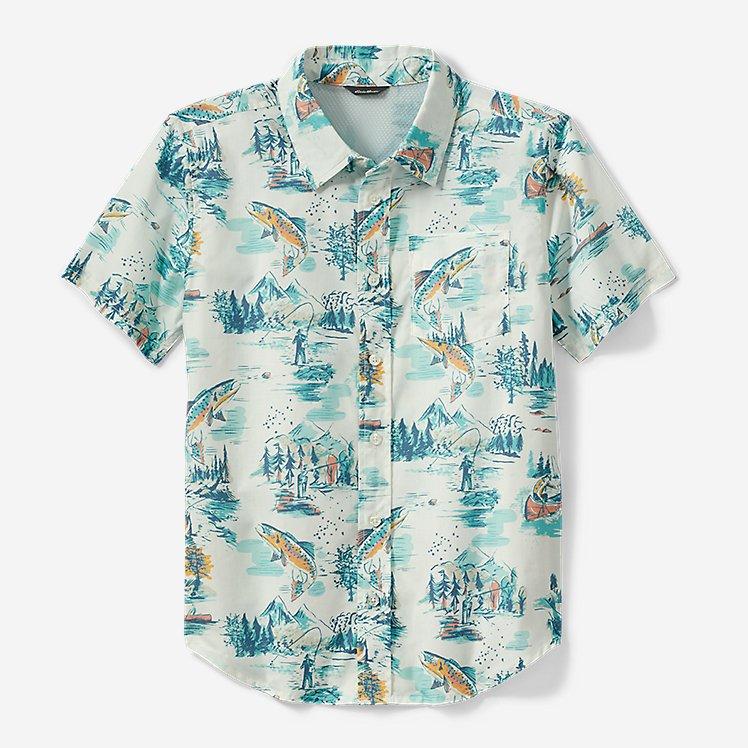 Boys' Summer On The Go Short-Sleeve Poplin Shirt large version