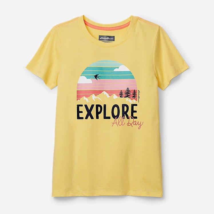 Girls' Summer Graphic T-Shirt large version