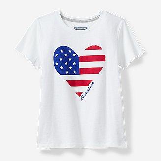 Thumbnail View 1 - Girls' Americana T-Shirt