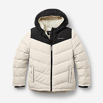 Thumbnail View 1 - Girls' Classic Down Hooded Jacket