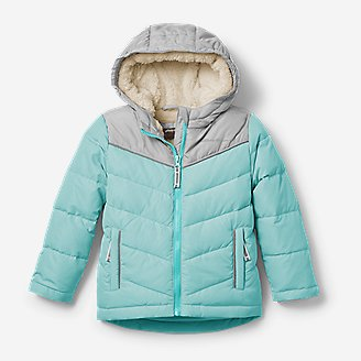 Thumbnail View 1 - Toddler Girls' Classic Down Hooded Jacket