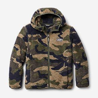 Thumbnail View 1 - Kids' Quest Plush Fleece Hooded Jacket - Print