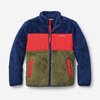 Thumbnail View 1 - Kids' Quest Plush Fleece Jacket - Color Block