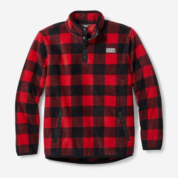 Boys' Quest Fleece Snap-Neck Pullover - Print large version