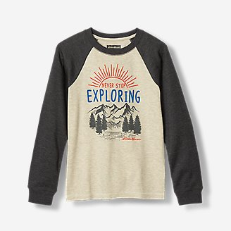 Thumbnail View 1 - Boys' Graphic Long-Sleeve Thermal Crew