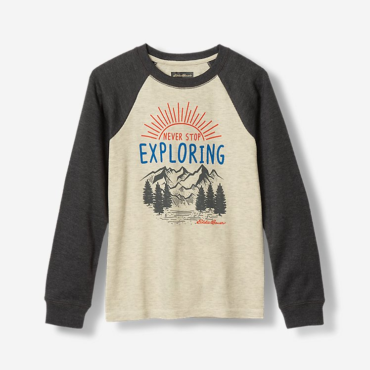 Boys' Graphic Long-Sleeve Thermal Crew large version