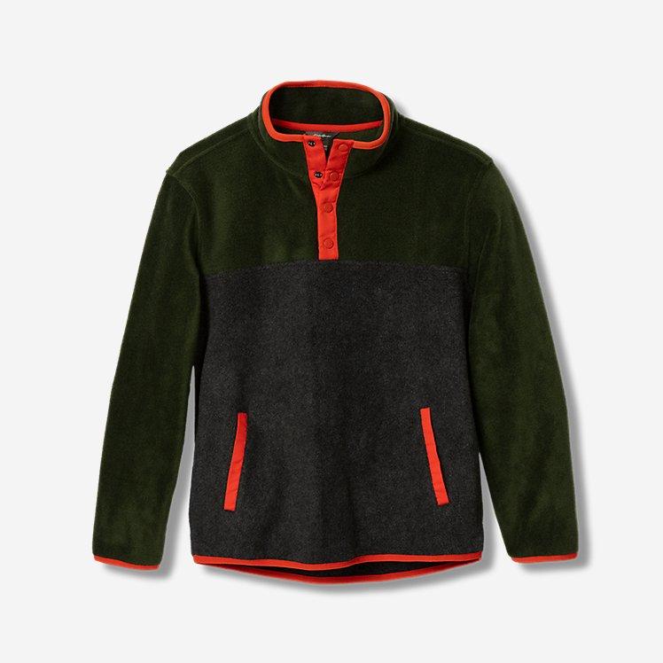 Boys' Quest Fleece Snap-Neck Pullover - Color Block large version