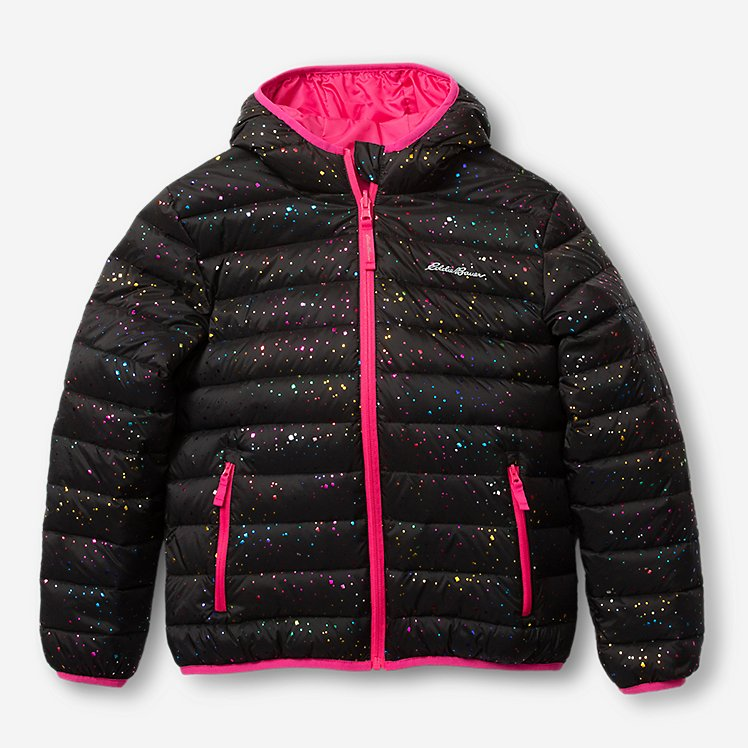Girls' Cirruslite Reversible Down Hooded Jacket large version
