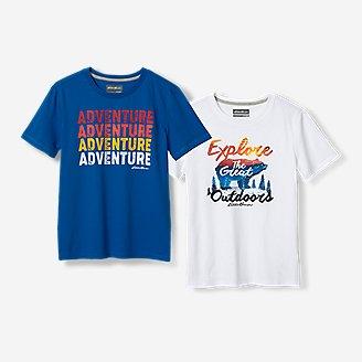 Thumbnail View 1 - Boys' Graphic T-Shirt - 2-Pack