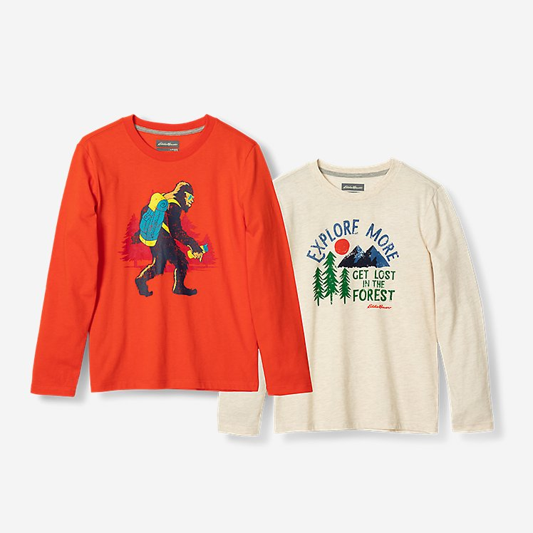 Boys' Graphic Long-Sleeve T-Shirt - 2-Pack large version
