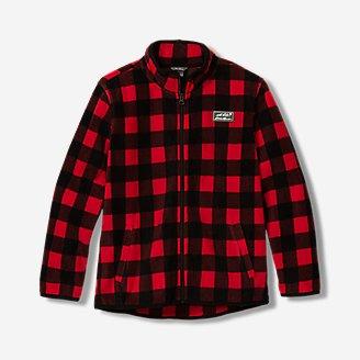 Thumbnail View 1 - Boys' Quest Fleece Full-Zip Jacket - Pattern