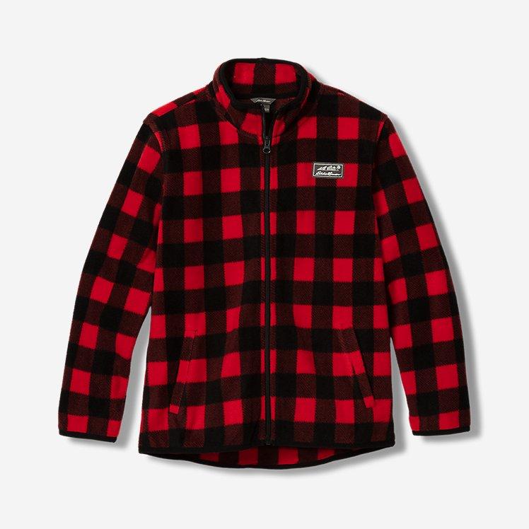 Boys' Quest Fleece Full-Zip Jacket - Pattern large version