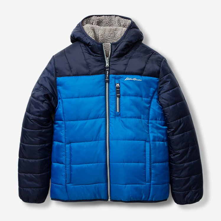 Boys' Deer Harbor Reversible Hooded Jacket - Color Block large version