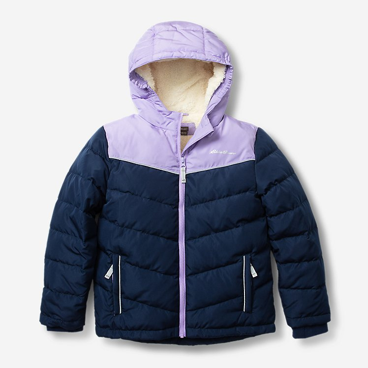 Girls' Classic Down Hooded Jacket large version