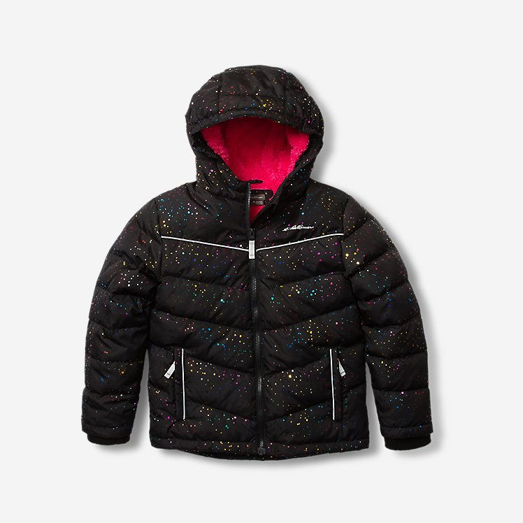 Toddler Girls' Classic Down Hooded Jacket large version