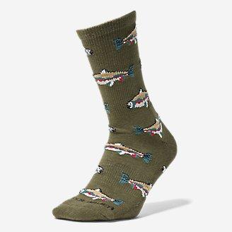 Thumbnail View 1 - Men's CoolMax® Trail Crew Socks - Pattern
