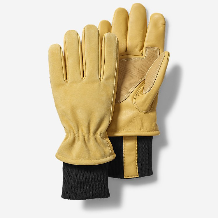 Insulated Leather Work Gloves large version