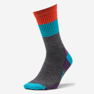Thumbnail View 1 - Point6 Light Hiking Crew Socks - Stripe