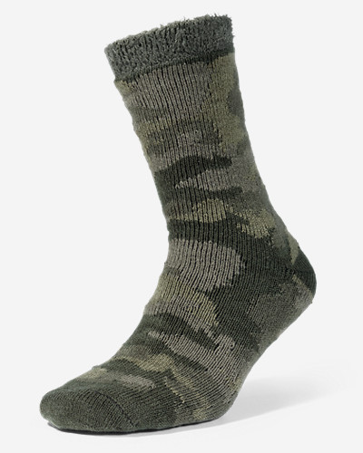 Men's Fireside Lounge Socks These acrylic/polyester/spandex socks have a tread-inspired texture on the bottom for indoor wear in cold weather.