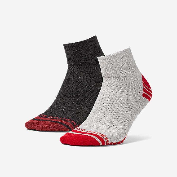 Men's Active Pro COOLMAX® Quarter Socks - 2 Pack large version