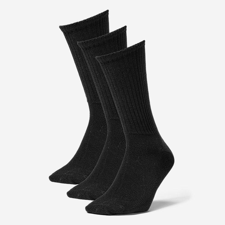 Men's Solid Crew Socks - 3 Pack large version