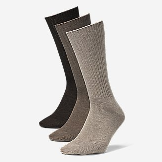 Thumbnail View 1 - Men's Solid Crew Socks - 3 Pack