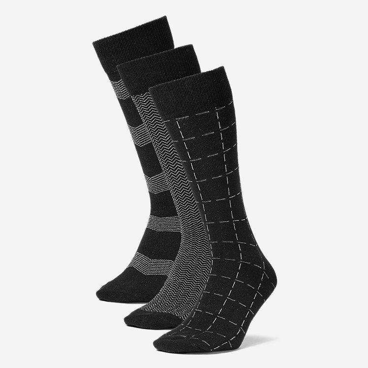 Men's Pattern Crew Socks - 3 Pack large version