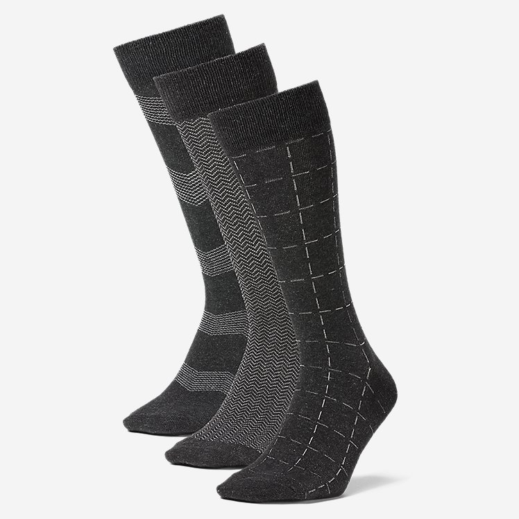 Men's Pattern Crew Socks - 3 Pack large version