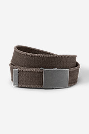 Men's Web Plaque Belt