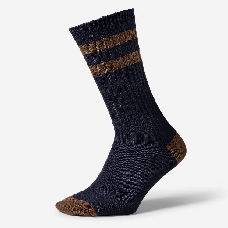 Men's Cotton-Blend Ragg Crew Socks large version
