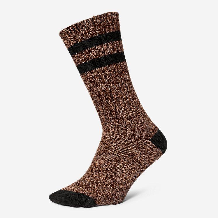 2 pr New Men/'s Eddie Bauer Dark Brown COOLMAX Crew Socks One Size